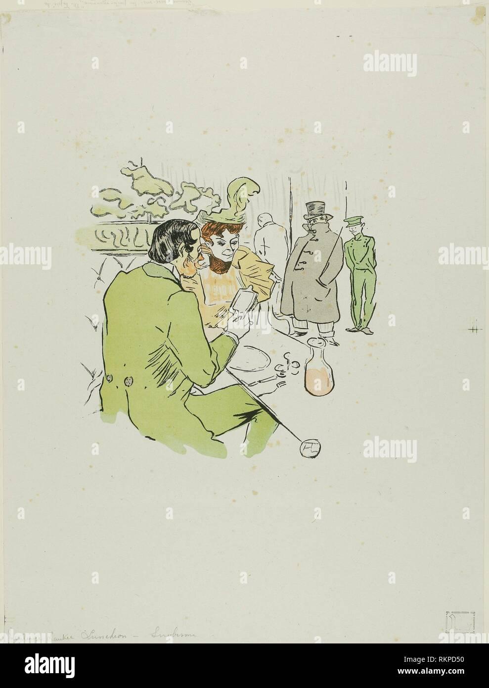 Snobbery - published April 24, 1897 - after Henri de Toulouse-Lautrec French, 1864-1901 - Artist: Henri de Toulouse-Lautrec, Origin: France, Date: - Stock Image