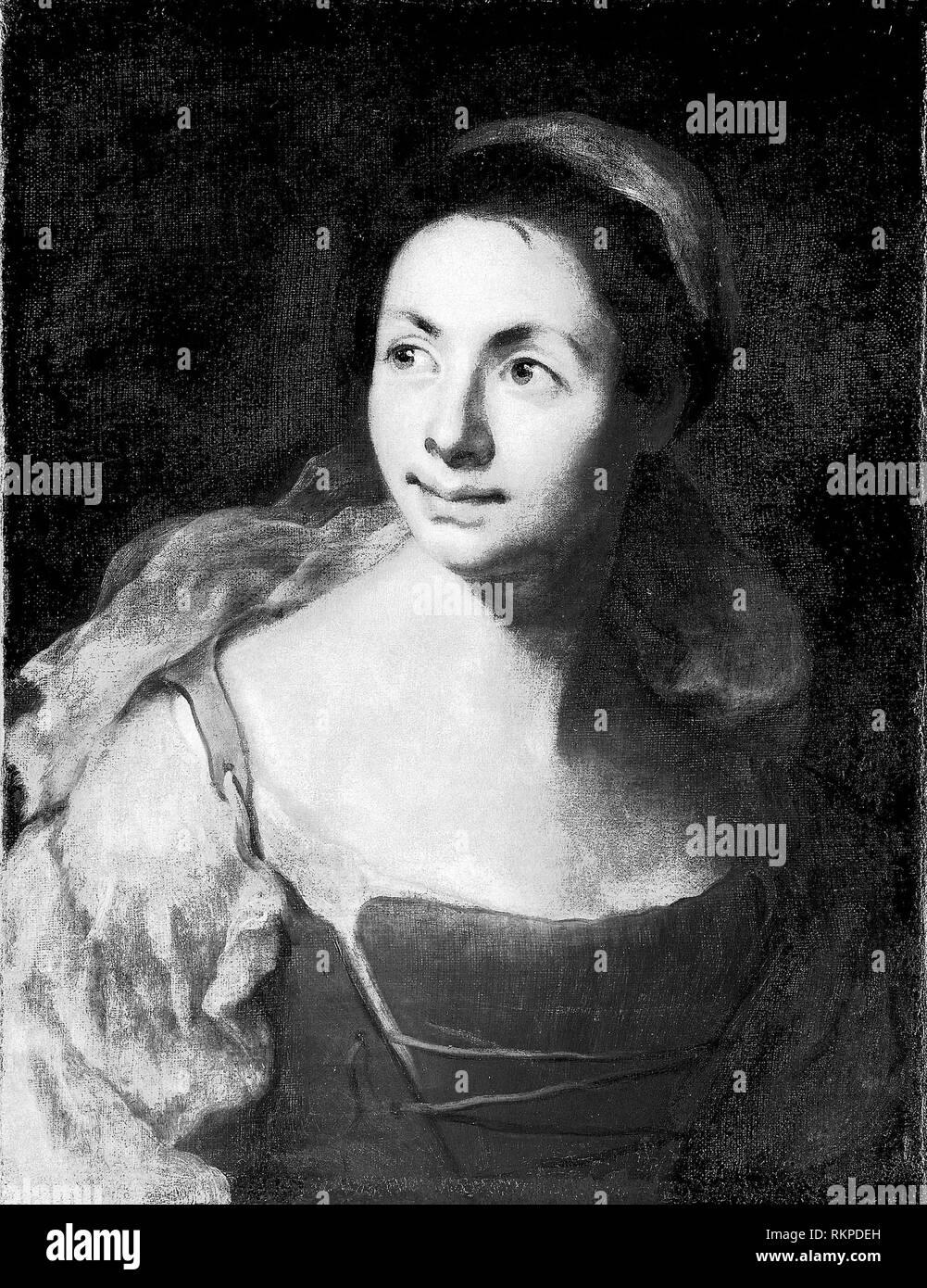 Portrait of a Girl - c  1700 - Francesco Solimena
