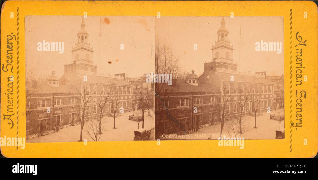 Continental Hall, Phila., Pa. Additional title: American scenery. Robert N. Dennis collection of stereoscopic views United States States - Stock Image