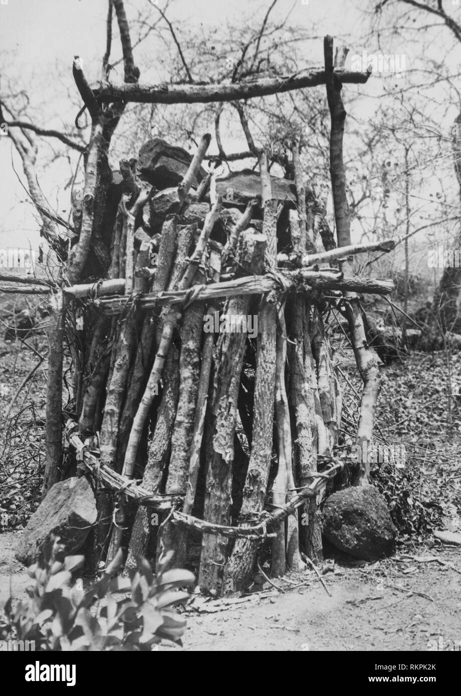 monkey trap, rhodesia, africa 1920 1930 - Stock Image