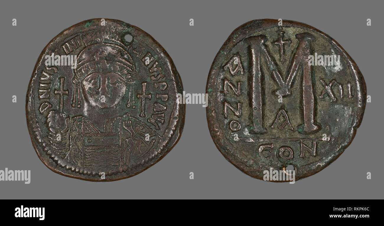 Coins: Ancient Ancient Byzantine Michael Ii Bronze Follis Coin 9th Century Ad