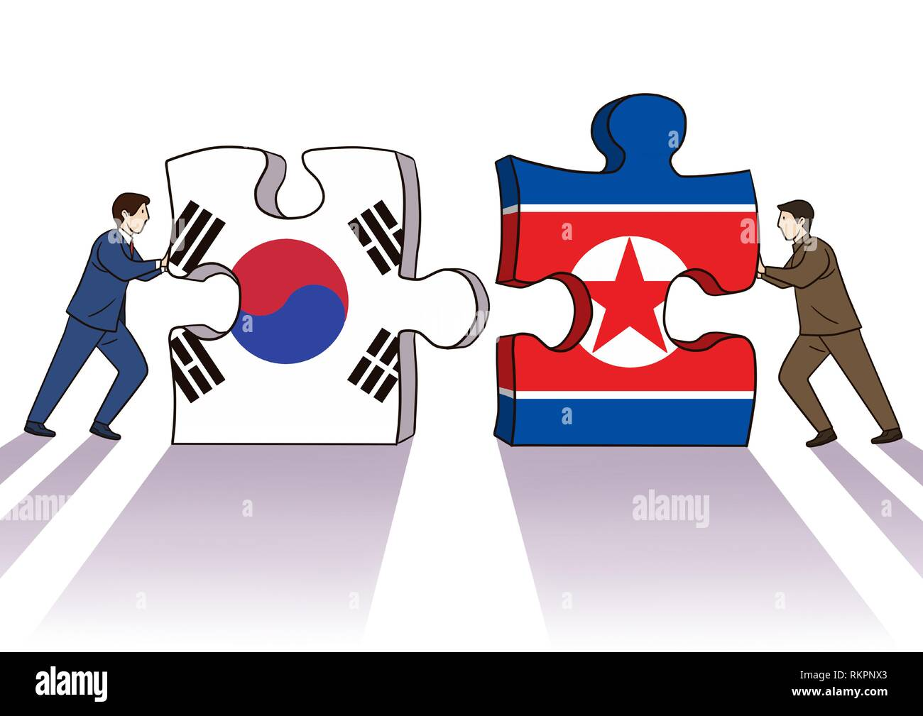 Diplomacy and trade War, international trade concept vector illustration 002 - Stock Image