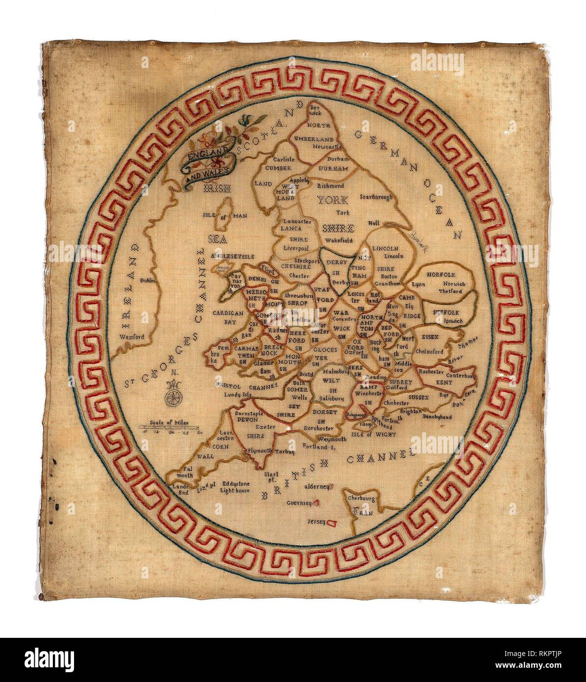 Map Of England 1800.Map Sampler C 1800 England Origin England Date 1790 1810