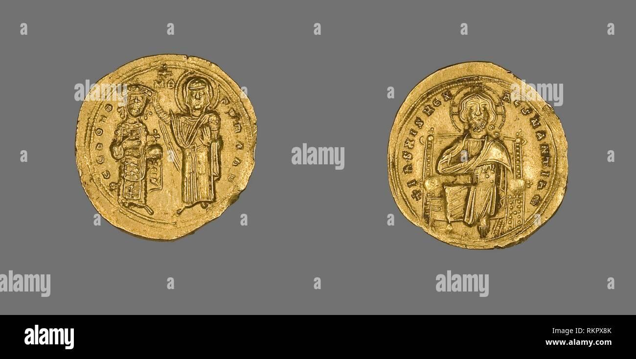 Byzantine (300-1400 Ad) Ancient Byzantine 1020-1028 Basil Ii/ Constantine Viii Large Follis Christ #7 Fast Color