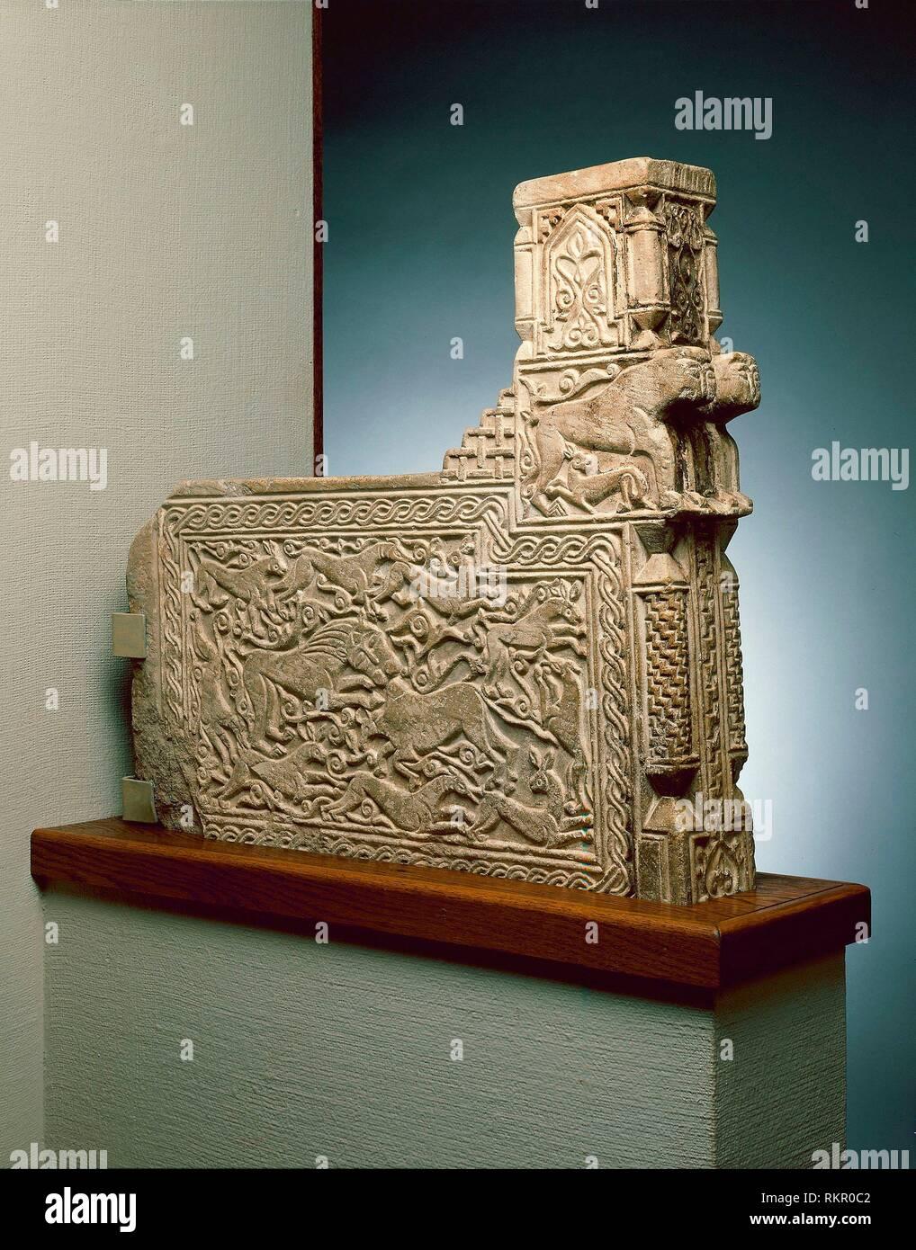Architectural Fragment - Ilkhanid dynasty (1256-1353), 13th century - Iran probobly Hamadan - Artist: Islamic, Origin: Iran, Date: 1201-1400, Medium: Stock Photo