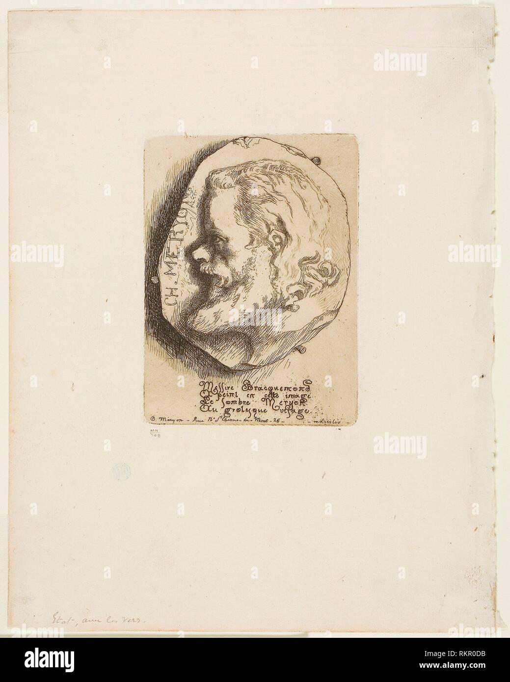 Profile Portrait of Charles Meryon - 1854 - Felix