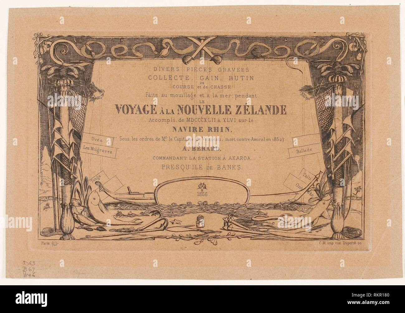 Cover for a Voyage to New Zealand (1842-46) - 1866 - Charles