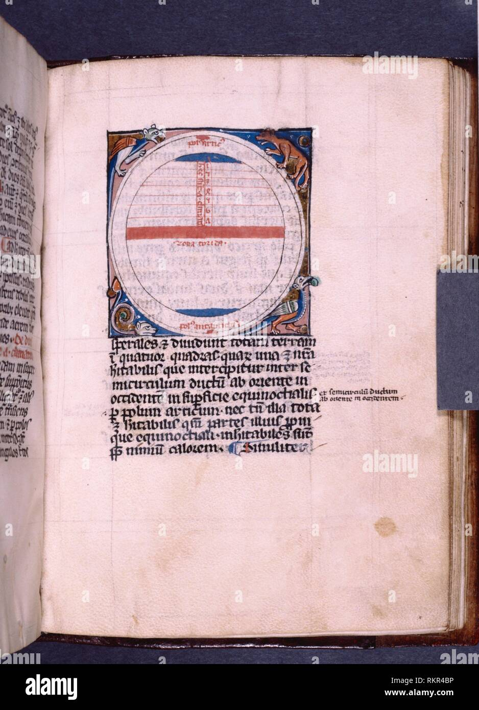 Chart of the seven climatic zones, with the torrid zone in the center and the poles at the extremes. Sacro Bosco, Joannes de (fl. 1230) (Author). - Stock Image