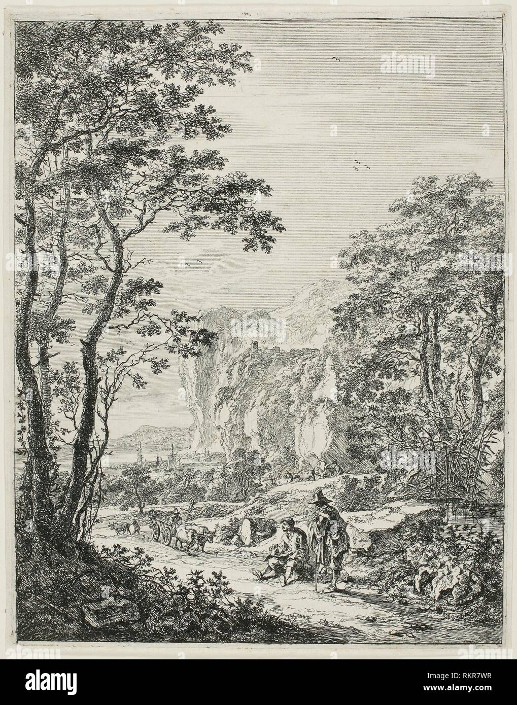 The Ox-Cart, from Upright Italian Landscapes - 1638/52 - Jan Both