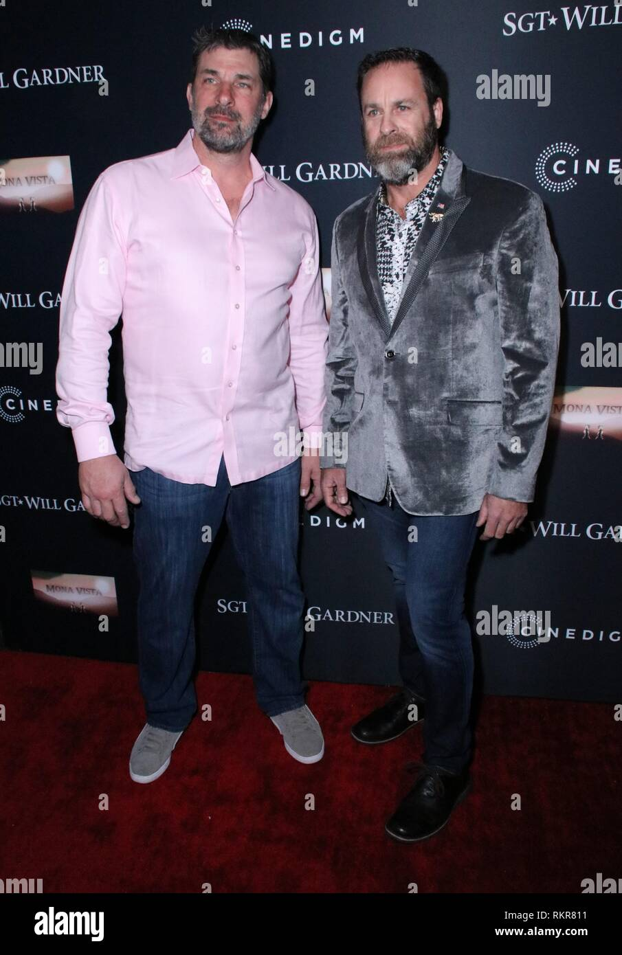 World Premiere of 'Sgt. Will Gardner' - Arrivals  Featuring: Shad Hamilton, Hugh Middleton Where: Los Angeles, California, United States When: 08 Jan 2019 Credit: WENN.com - Stock Image