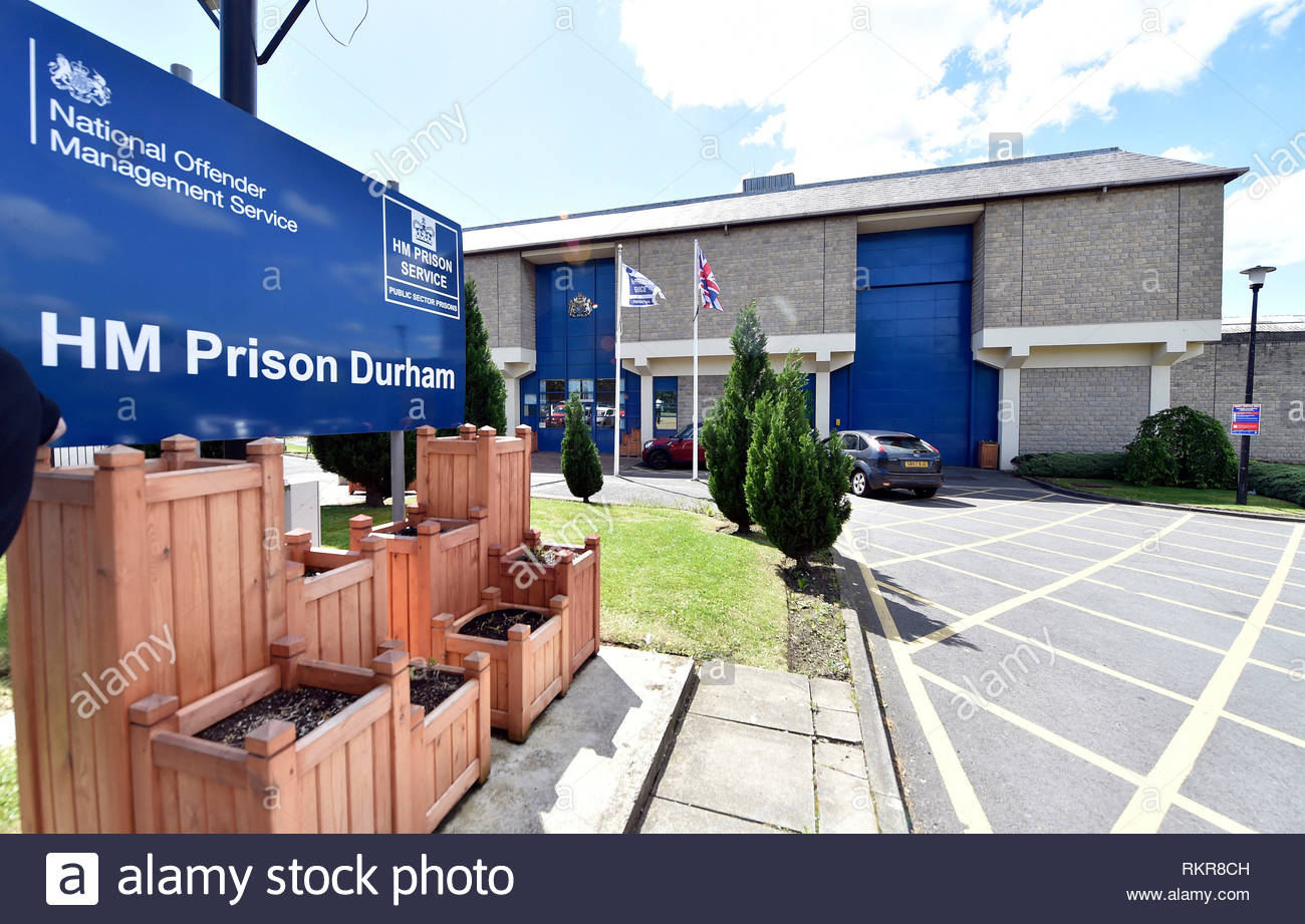 File photo dated 31/7/14 of HMP Durham as the prison hit by rising violence and a spate of suspected drug-related deaths was promised scanning equipment, only for it to be diverted to another jail, according to a watchdog report. - Stock Image