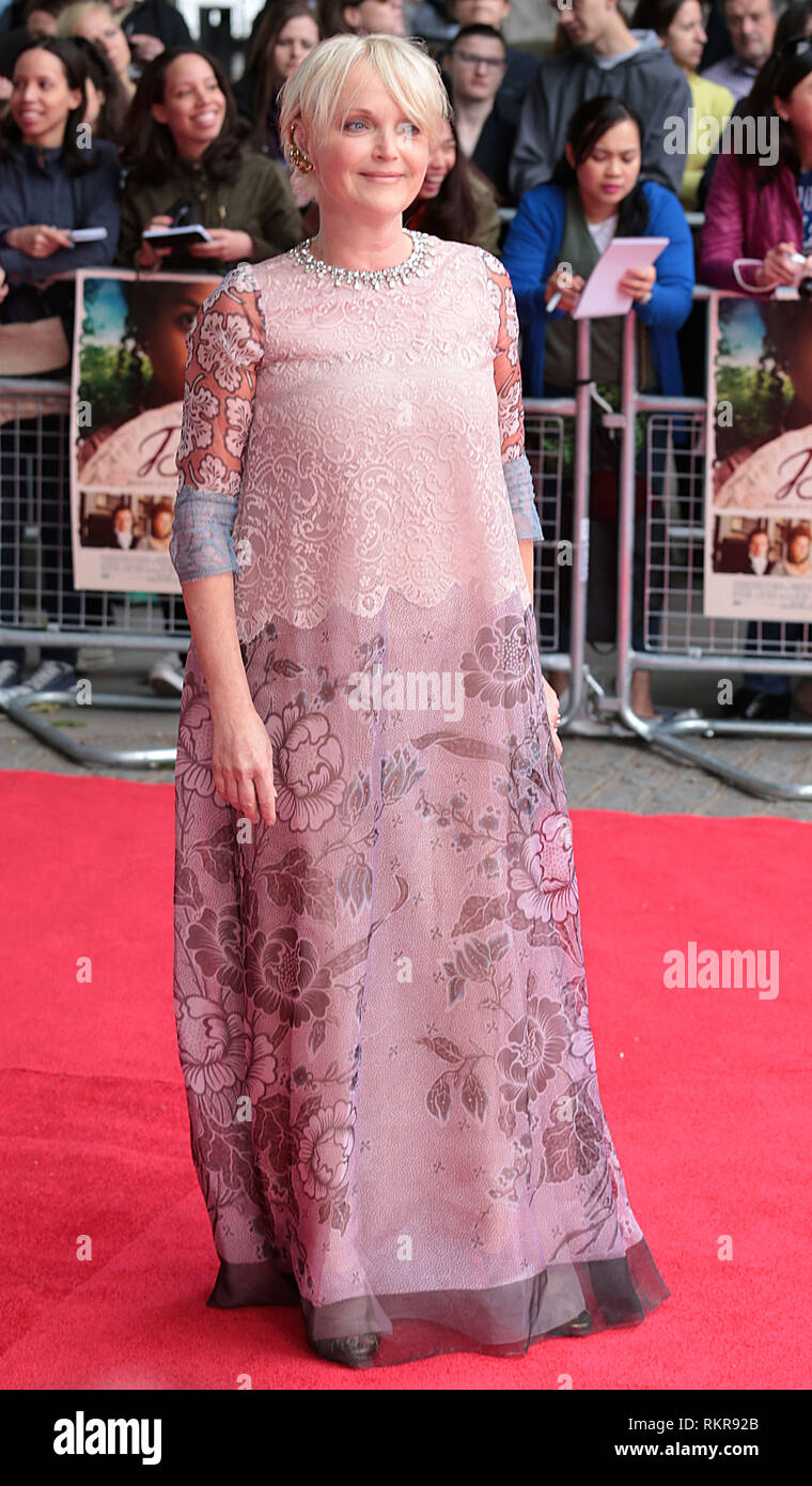 London, UK, 5th June 2014 Miranda Richardson attends the 'Belle' UK Premiere at BFI Southbank - Stock Image