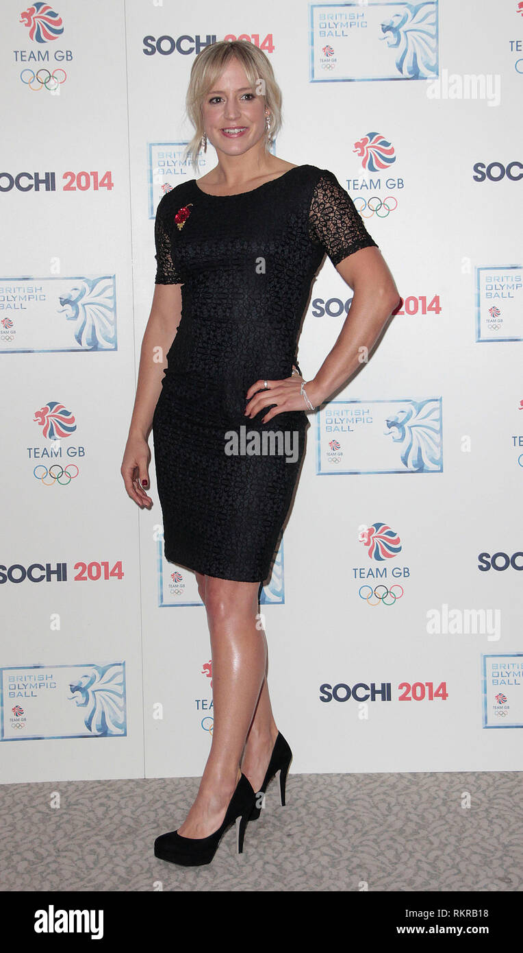 British Olympic Ball, The Dorchester Hotel, London Photo Shows: Jenny Jones - Stock Image
