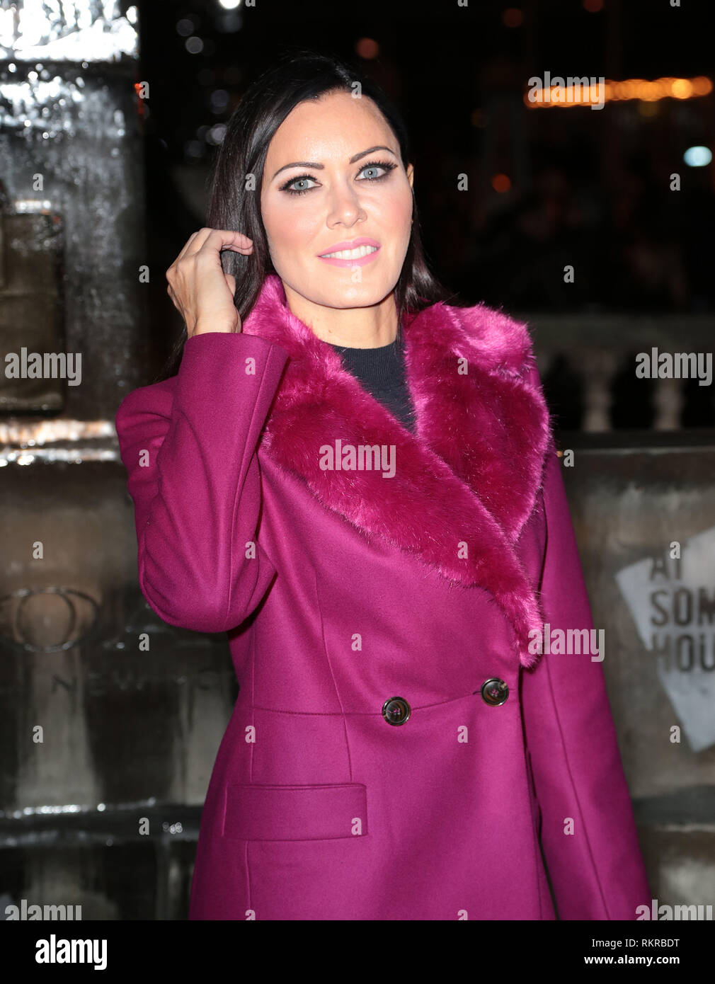 Linzi Stoppard arrives at Skate at Somerset House VIP Launch presented by Coach - Stock Image