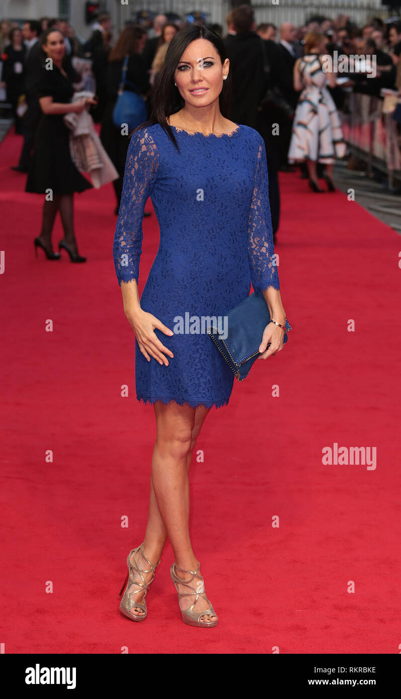 London, UK, 2nd April 2014 Linzi Stoppard attends the UK Gala Screening of 'The Other Woman' at The Curzon Mayfair - Stock Image