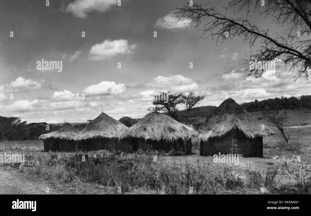 zululand, kraal village, south africa, africa - Stock Image