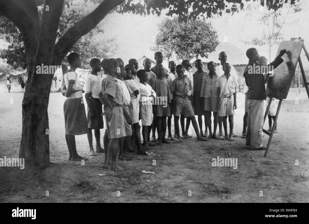 missionary school, zaria, nigeria, africa 1920 - Stock Image