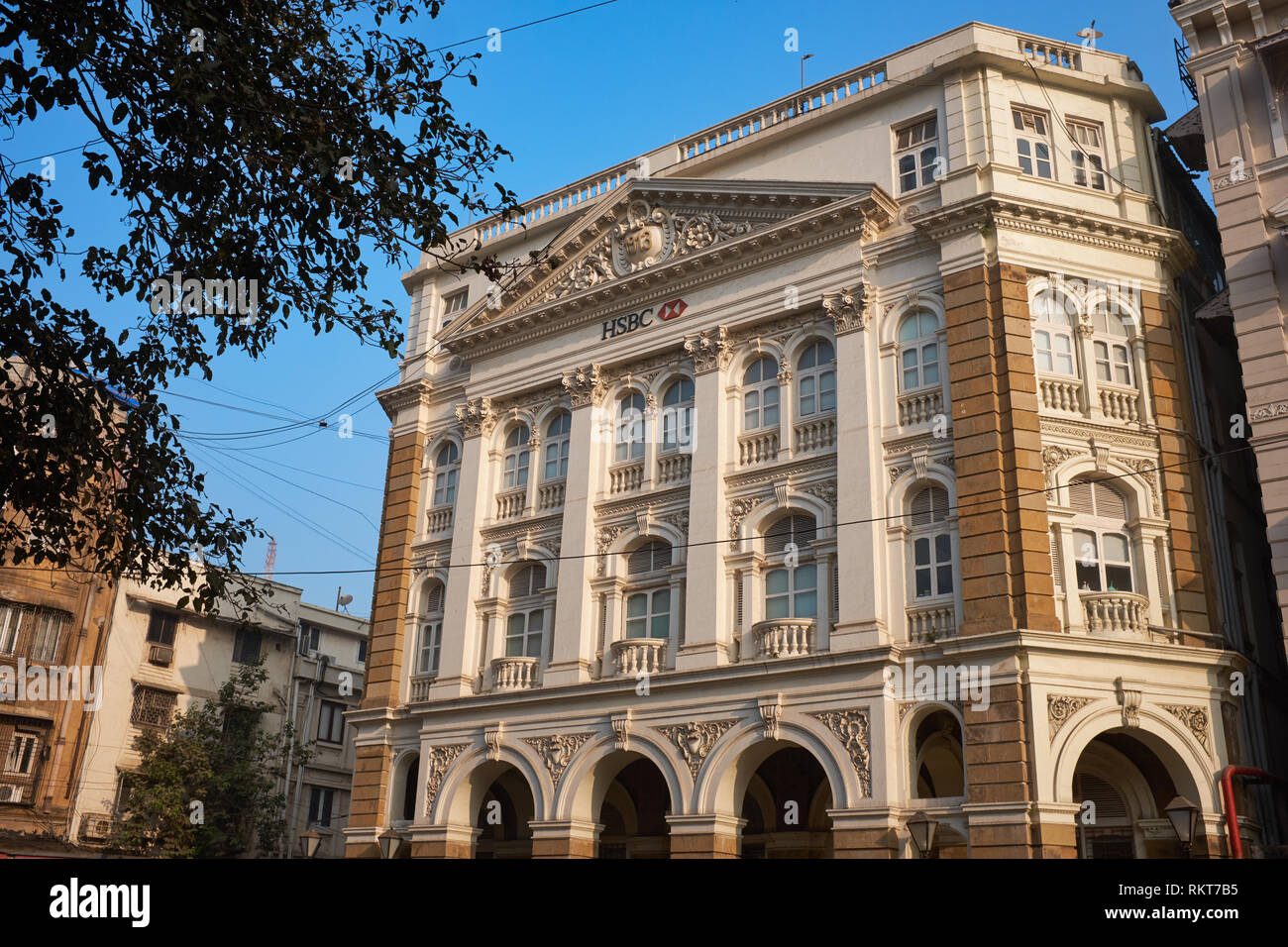 HSBC Bank building near Horniman Circle, Fort, Mumbai, India - Stock Image