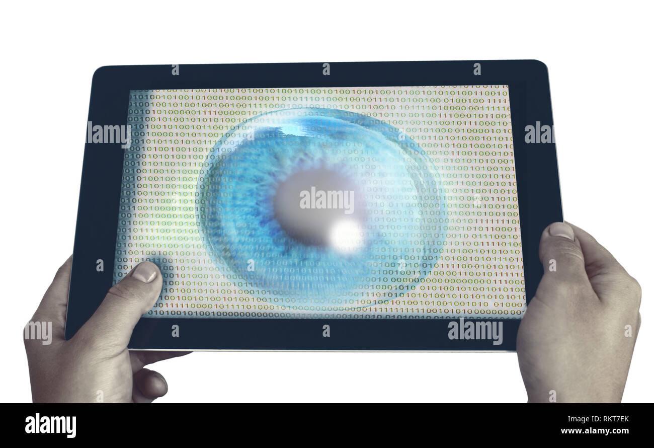 spy eye program - Stock Image