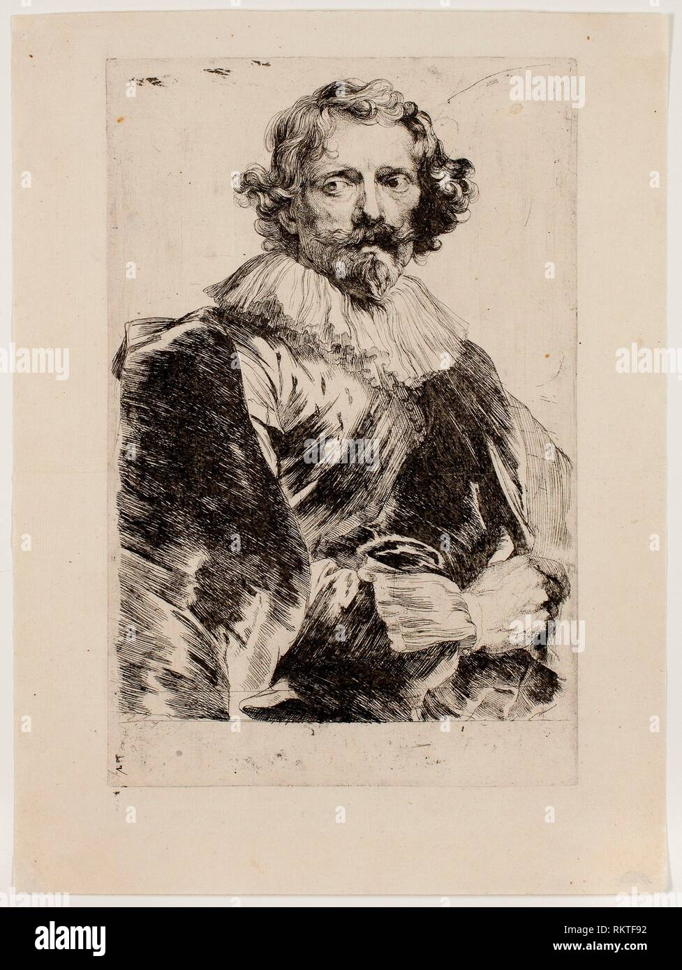 Lucas Vorsterman - 1630/33 - Anthony van Dyck Flemish, 1599-1641 - Artist: Anthony van Dyck, Origin: Flanders, Date: 1630-1633, Medium: Etching in - Stock Image