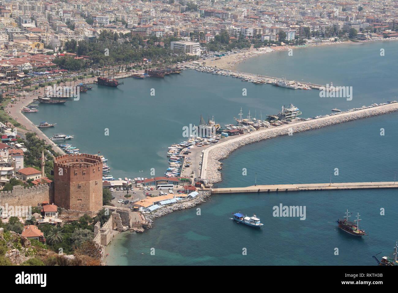 Alanya, Turkey, Europa / / Fragments of the city Stock Photo