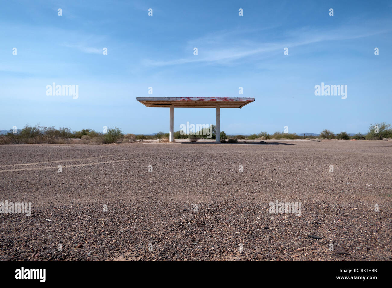 Abandoned Gas Station In Aztec Arizona United States Of America View Of American Landscape In The Southwest Usa And Ruins Of Old Building On A Us H Stock Photo Alamy