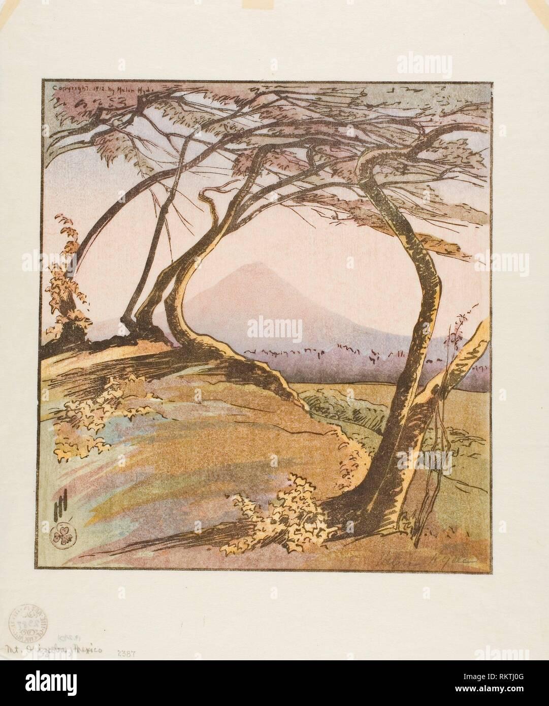 Mount Orizaba - 1912 - Helen Hyde American, 1868-1919 - Artist: Helen Hyde, Origin: United States, Date: 1912, Medium: Color woodcut on ivory - Stock Image