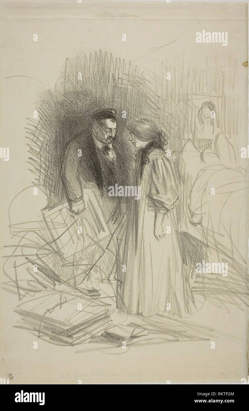 '''''I don't dare take them down yet.it would hurt him too much'' - c. 1892 - Jean Louis Forain French, 1852-1931 - Artist: Jean Louis Forain, - Stock Image