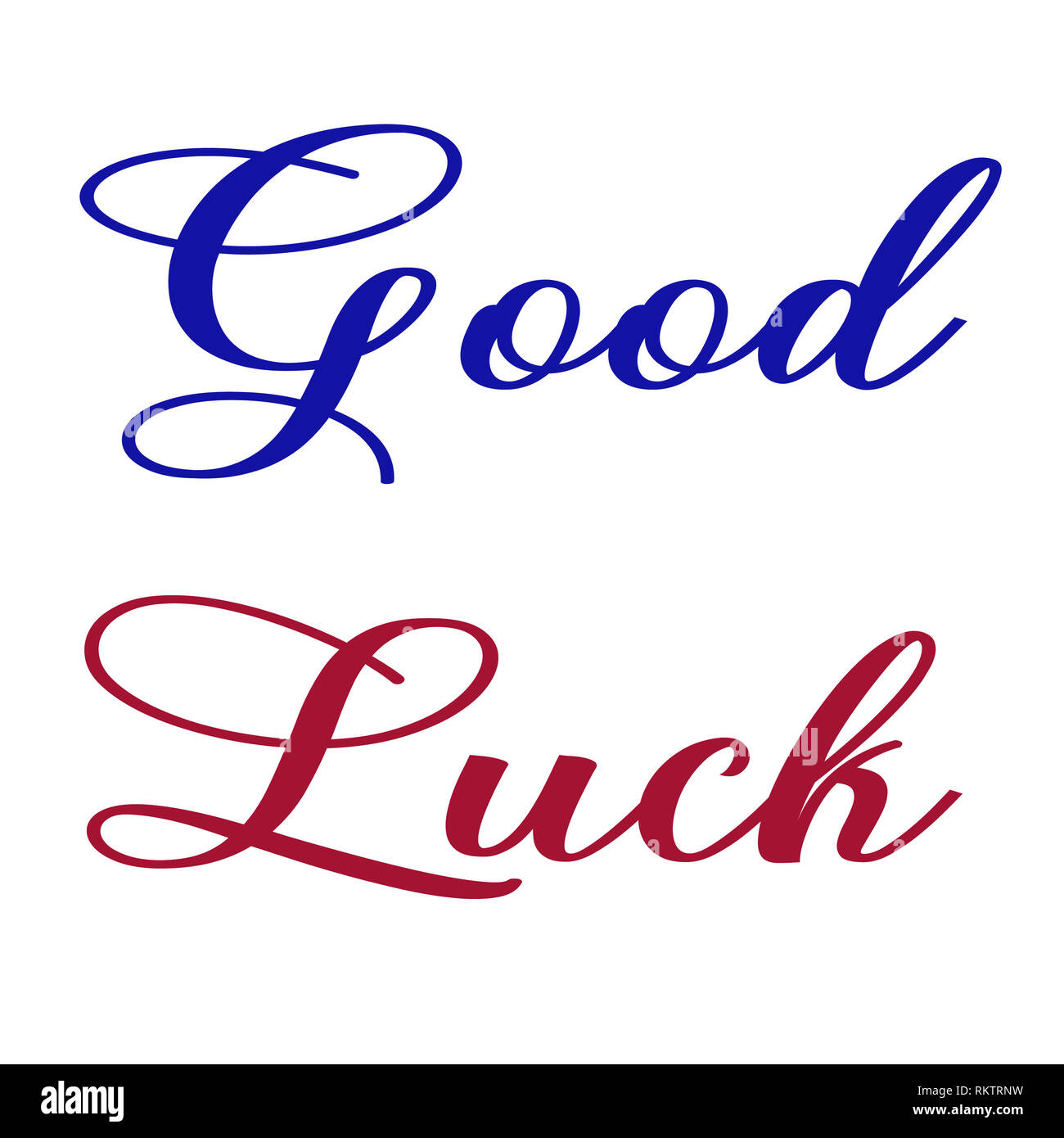 Good luck wishes with amazing styles - Stock Image