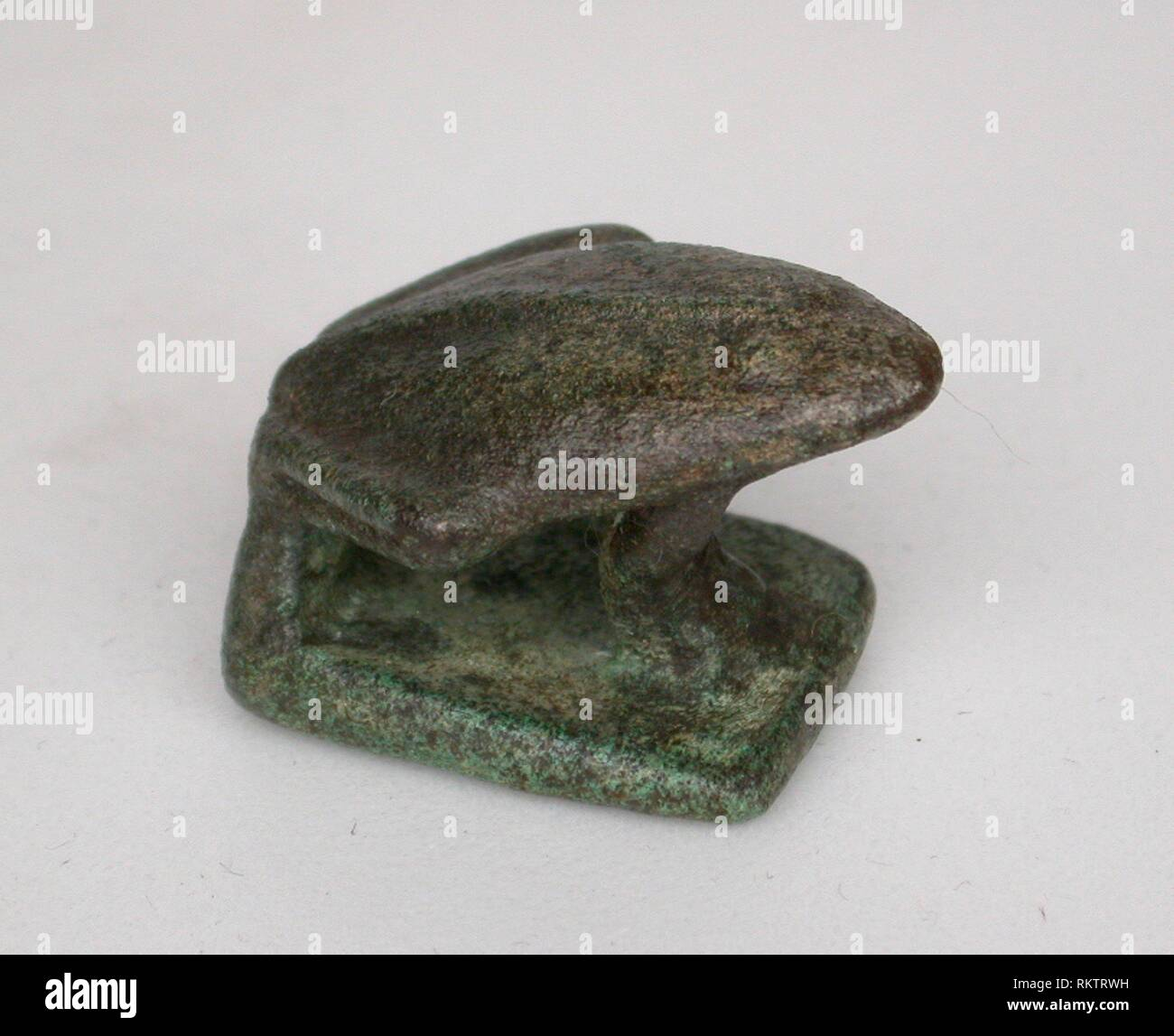 Amulet of a Frog - Middle Kingdom, Dynasty 11 (2134–1991 BC) - Egyptian - Artist: Ancient Egyptian, Origin: Egypt, Date: 2134 BC–1991 BC, Medium: - Stock Image