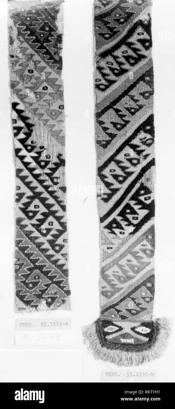Fragments (Loincloth) - A.D. 1000/1476 - Probably central coast, Peru - Artist: Chancay, Origin: Peru, Date: 1000-1476, Medium: slit tapestry, - Stock Image