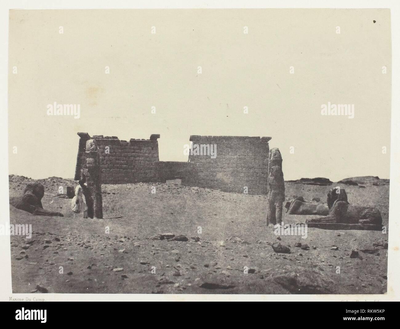 Hémi-Spéos De Séboua, Drômos; Nubie - 1849/51, printed 1852 - Maxime Du Camp French, 1822–1894 - Artist: Maxime Du Camp, Origin: France, Date: - Stock Image