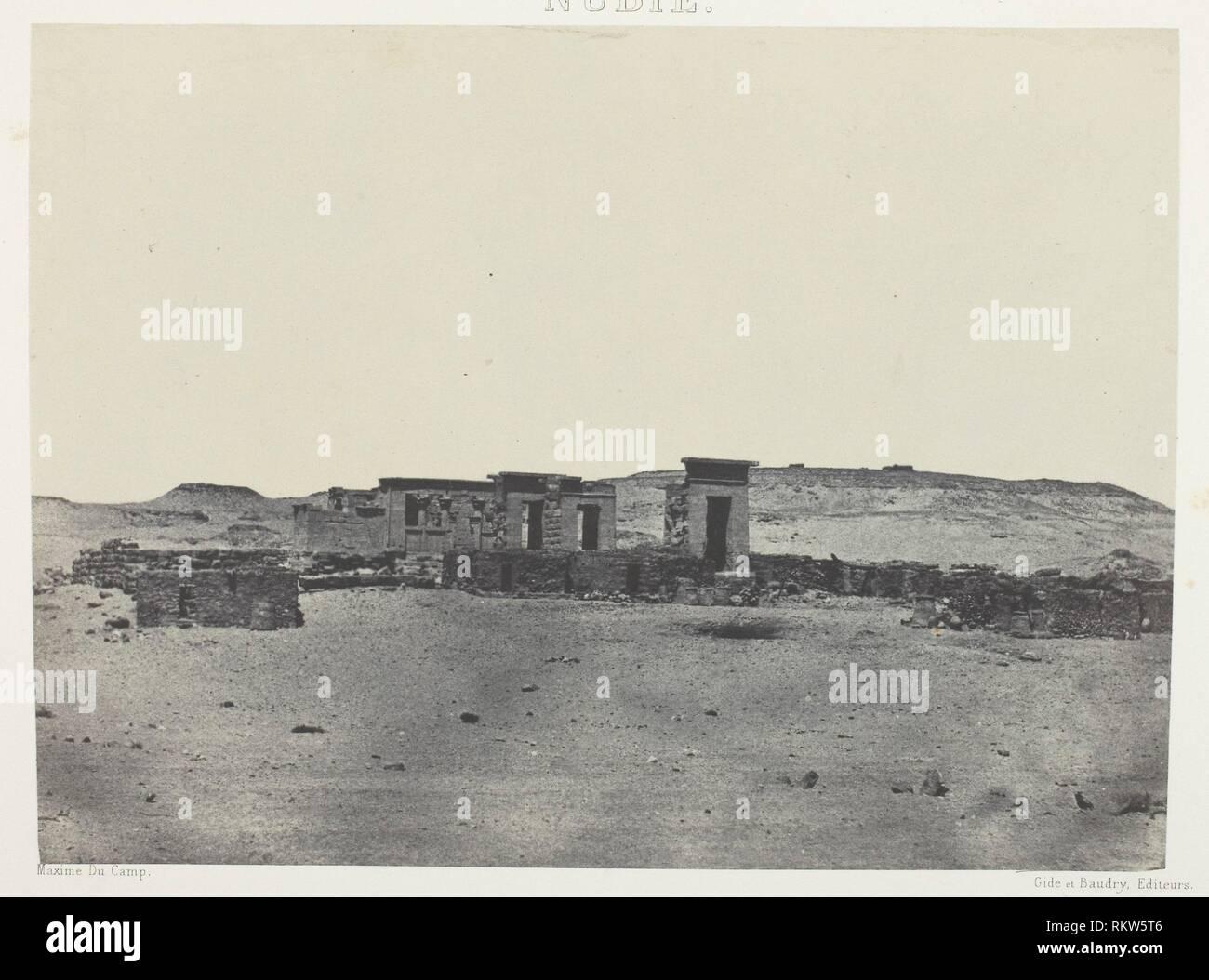 Temple et Village de Débôd, Parembole de l'Itinéraire d'Antonin; Nubie - 1849/51, printed 1852 - Maxime Du Camp French, 1822–1894 - Artist: Maxime Du - Stock Image