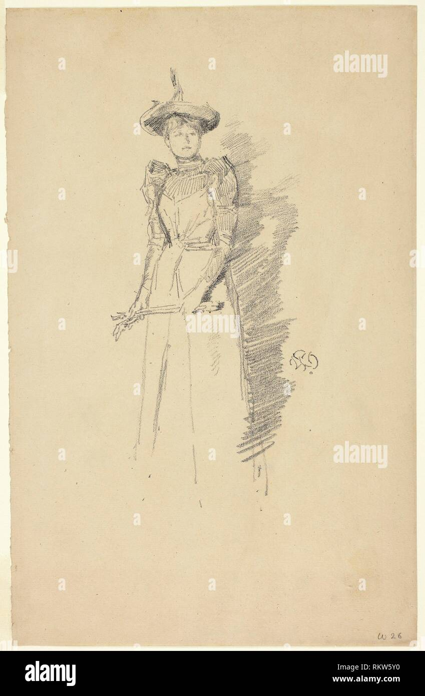 Suede Gloves - 1890 - James McNeill Whistler (American, 1834-1903) printed by Thomas Way (English, 1837-1915) - Artist: James McNeill Whistler, - Stock Image