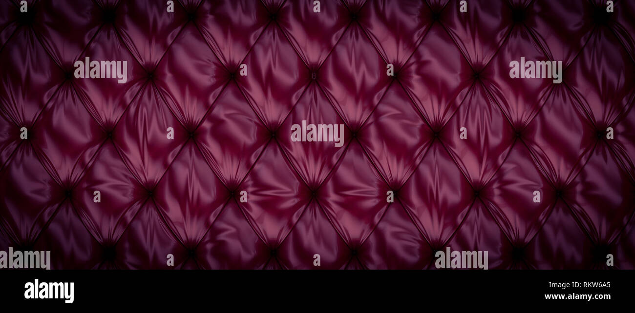 violet 3d rendering of tufted background - Stock Image