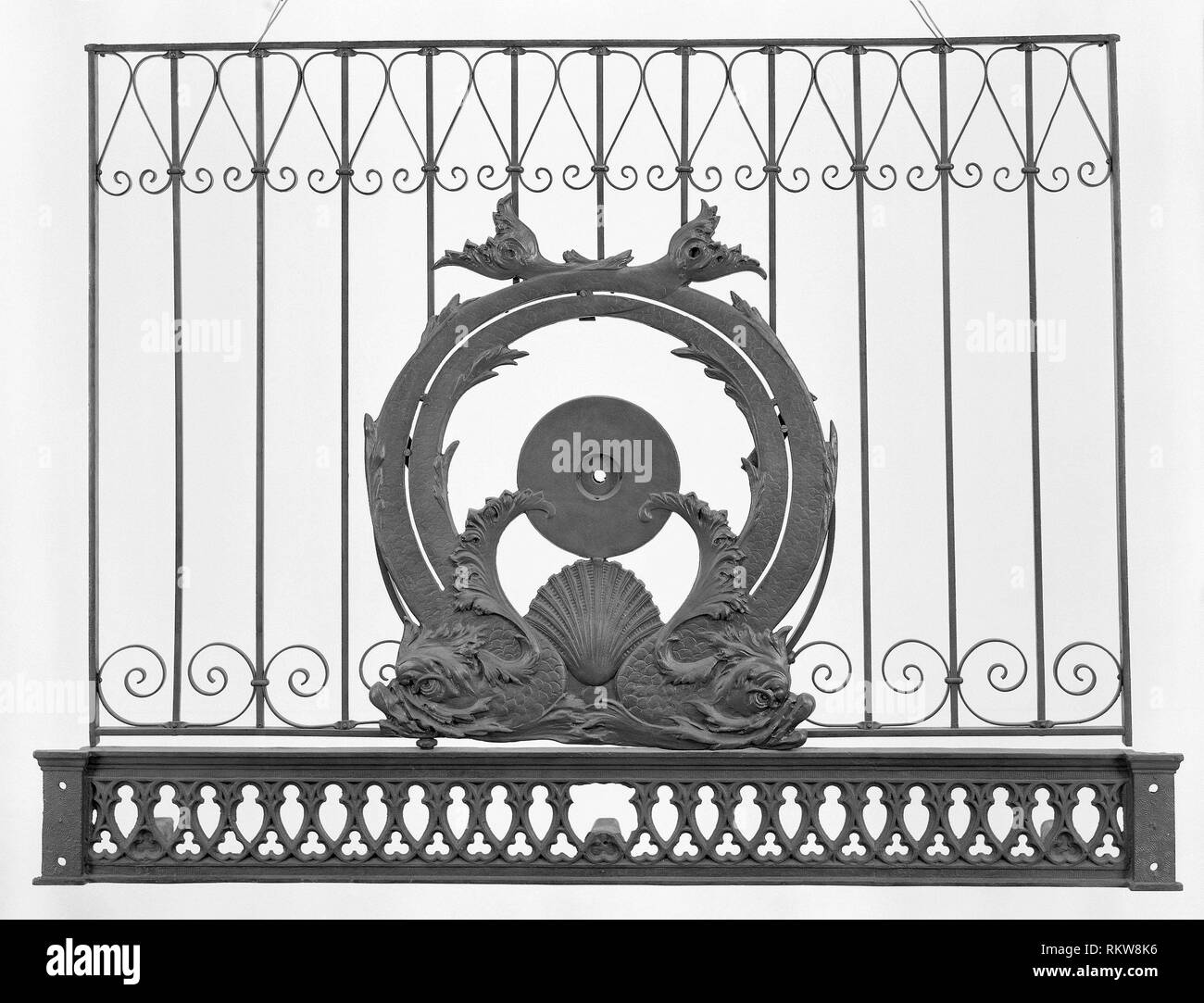 Fisher Building, 343 South Dearborn Street, Chicago, Illinois: Upper Portion of Elevator Grille - 1895/96 - Designer: Charles Atwood (American, - Stock Image