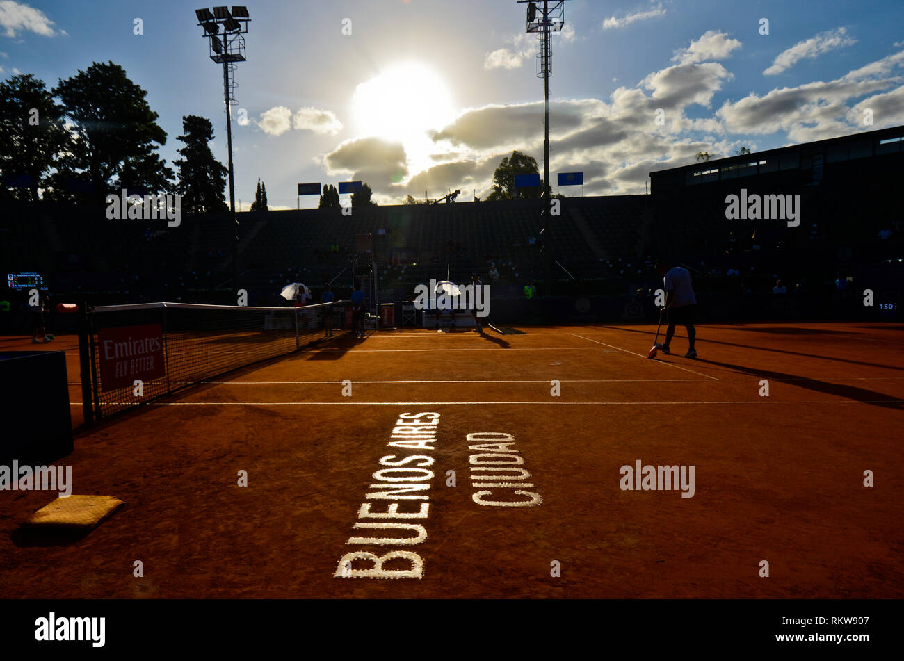 Buenos Aires Lawn Tennis Club, hosting the traditional Argentina Open, an ATP tour tournament - Stock Image