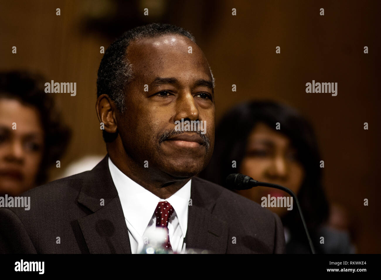 Washington, District of Columbia, USA. 12th Jan, 2017. Dr. BEN CARSON at confirmation hearing to become HUD Secretary, January 12, 2017 Credit: Douglas Christian/ZUMA Wire/Alamy Live News Stock Photo