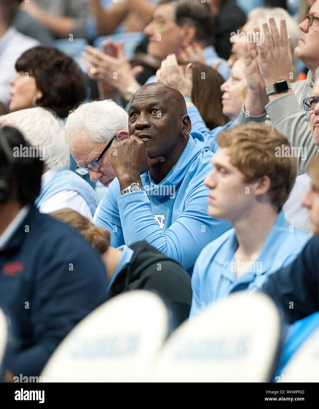 premium selection 320ea a4481 ... USA - NBA Legend MICHAEL JORDAN looks on as the University of North  Carolina Tar Heels were defeated the Virginia Cavaleirs with a final score  ...