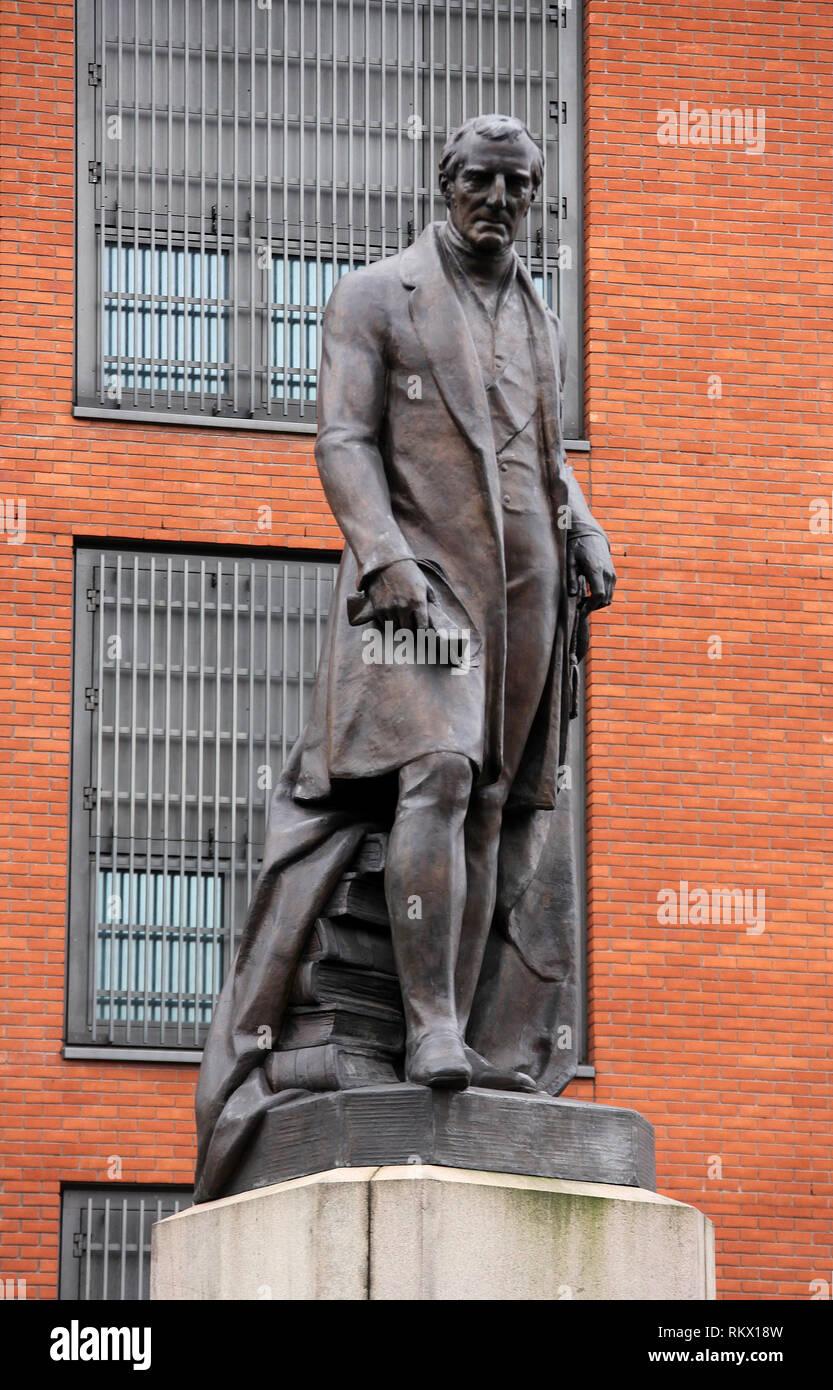 Duke of Wellington Statue at Manchester - Stock Image