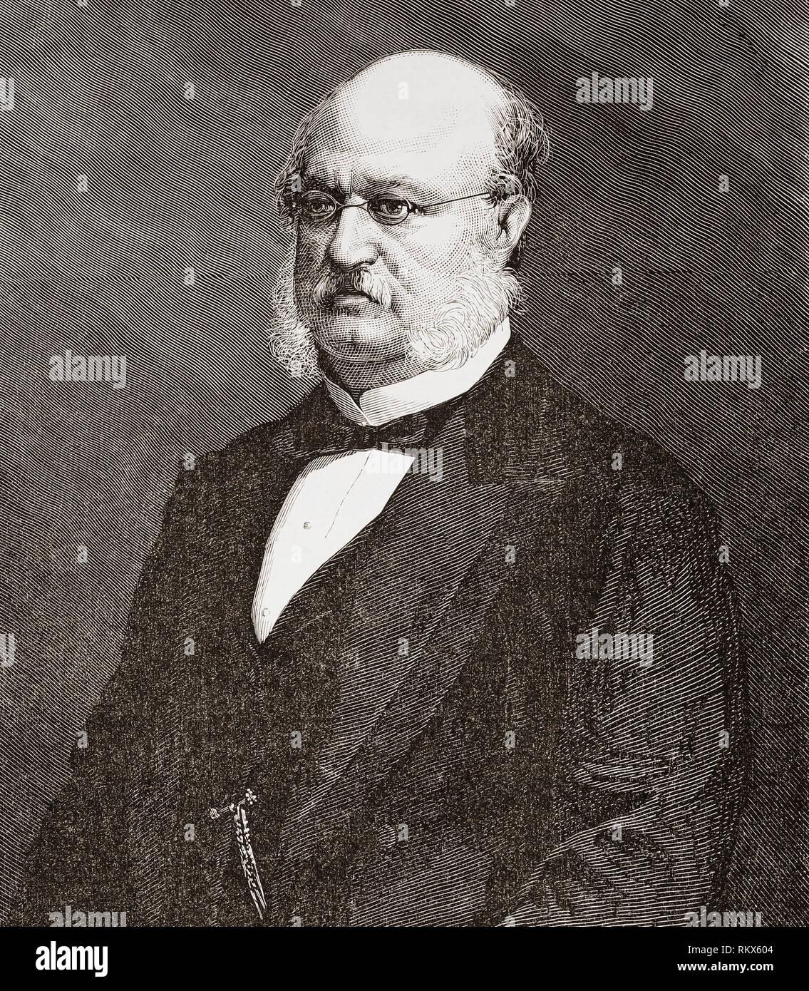 Manuel Garcia Barzanallana Garcia-Frias, 1817 -1892.  Spanish politician and government official.  From La Ilustracion Espanola y Americana, published 1892. - Stock Image