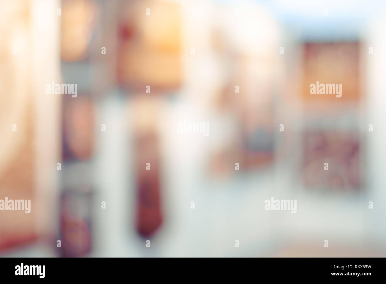 Abstract blur contemporary art gallery for background usage - Stock Image