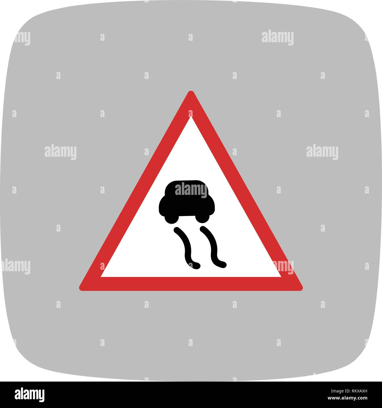 Vector Slippery roads Icon Sign Icon Vector Illustration For Personal And Commercial Use... Clean Look Trendy Icon... - Stock Vector