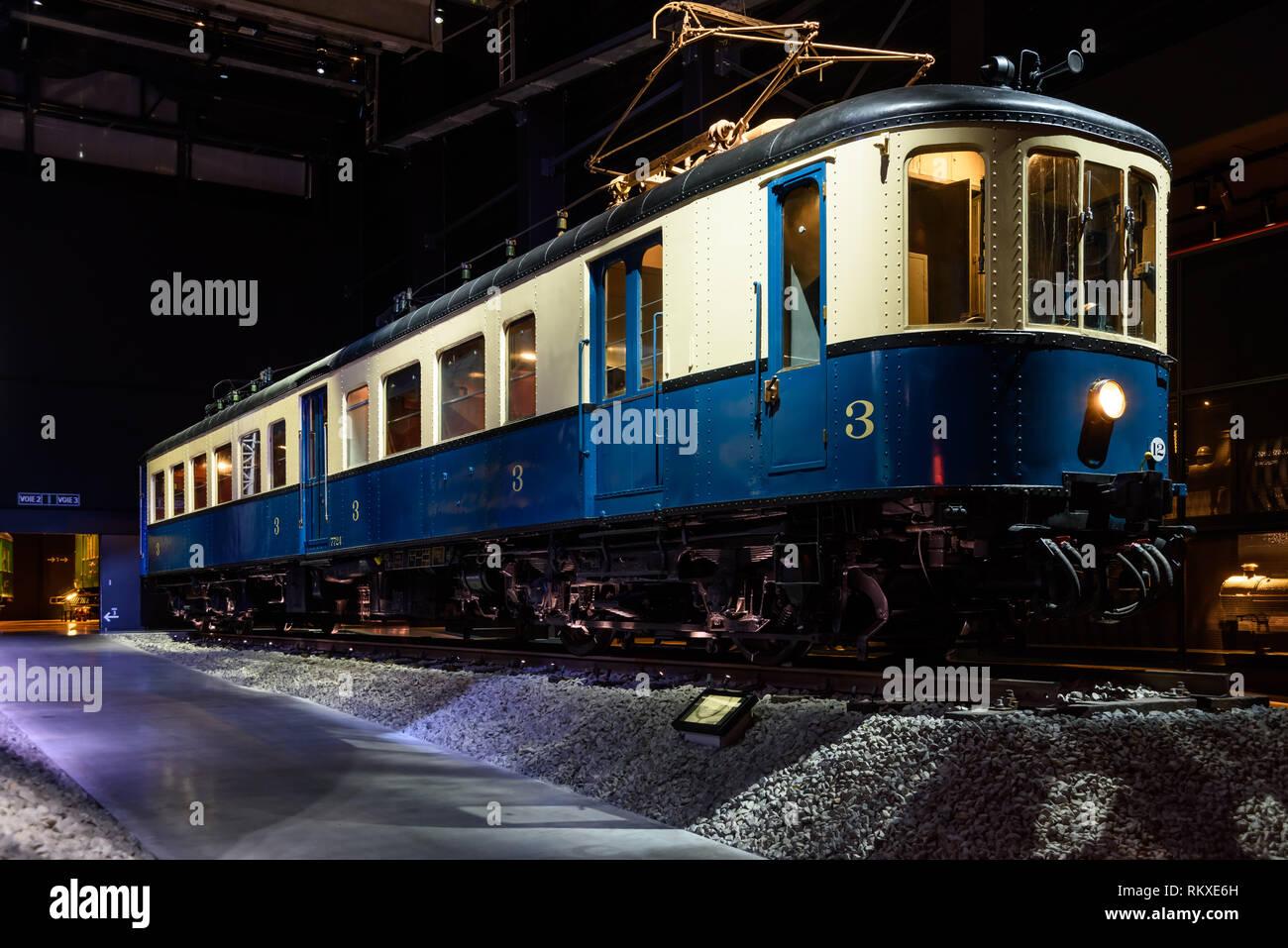 Brüssel, Eisenbahnmuseum Train World - Brussels, Train World Railway Museum Stock Photo