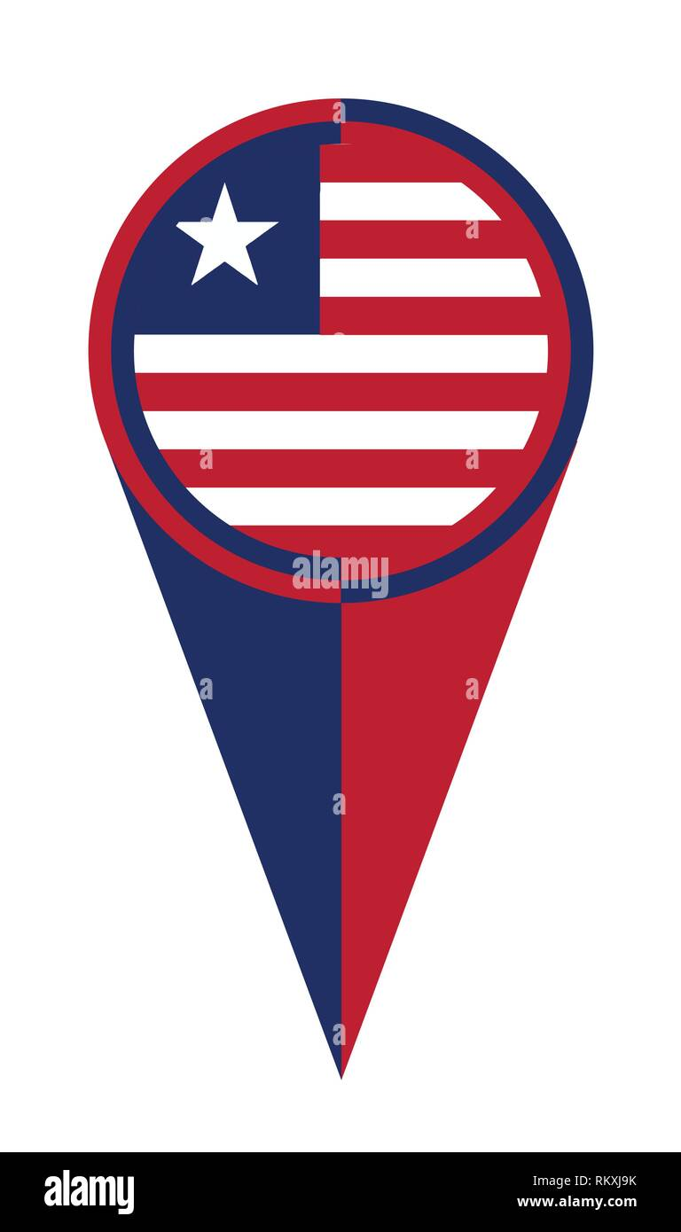 Liberia map pointer pin icon location flag marker Stock Vector Art ...