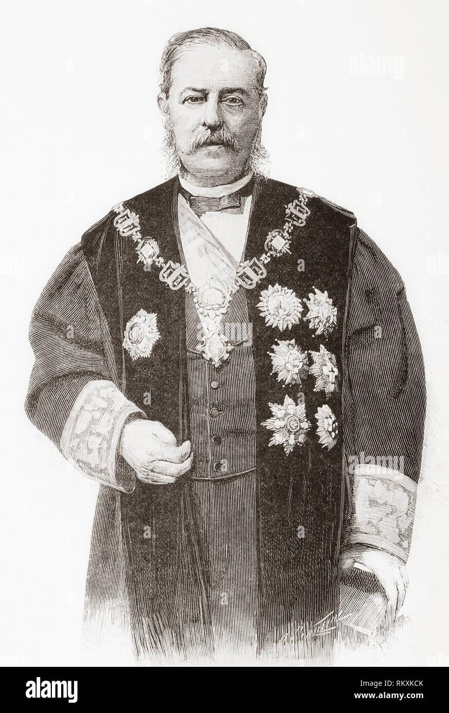 Emilio Bravo Romero, 1827 - 1893. Spanish marine, jurist and politician. - Stock Image