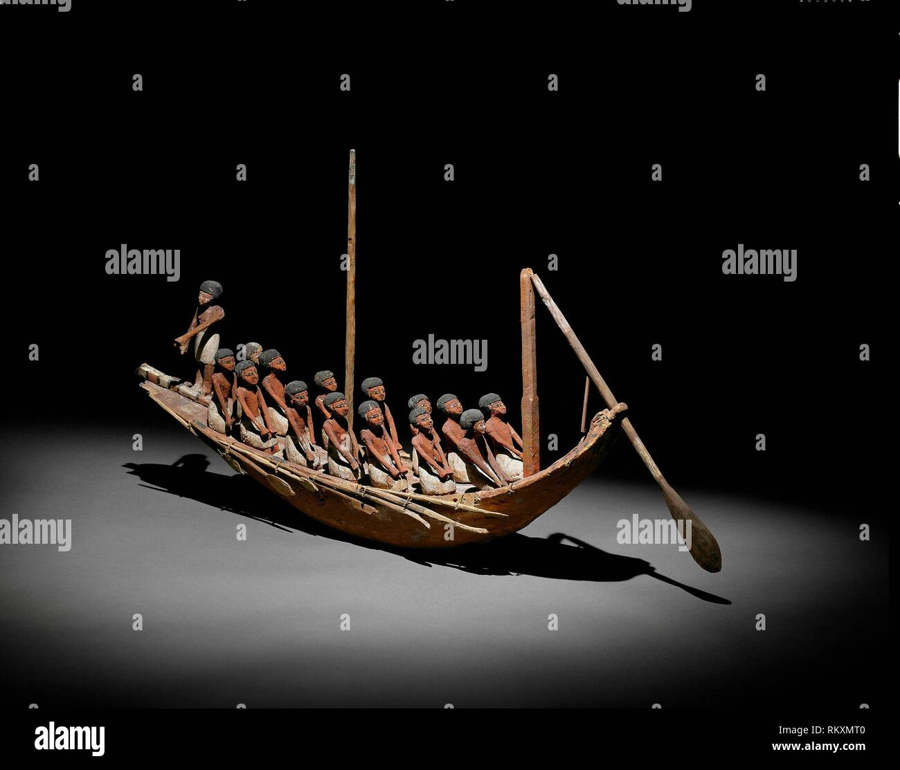 Model of a River Boat - Middle Kingdom, Dynasty 11–12 (about 2046–1794 BC) - Egyptian - Artist: Ancient Egyptian, Origin: Egypt, Date: 2046 BC–1794 - Stock Image