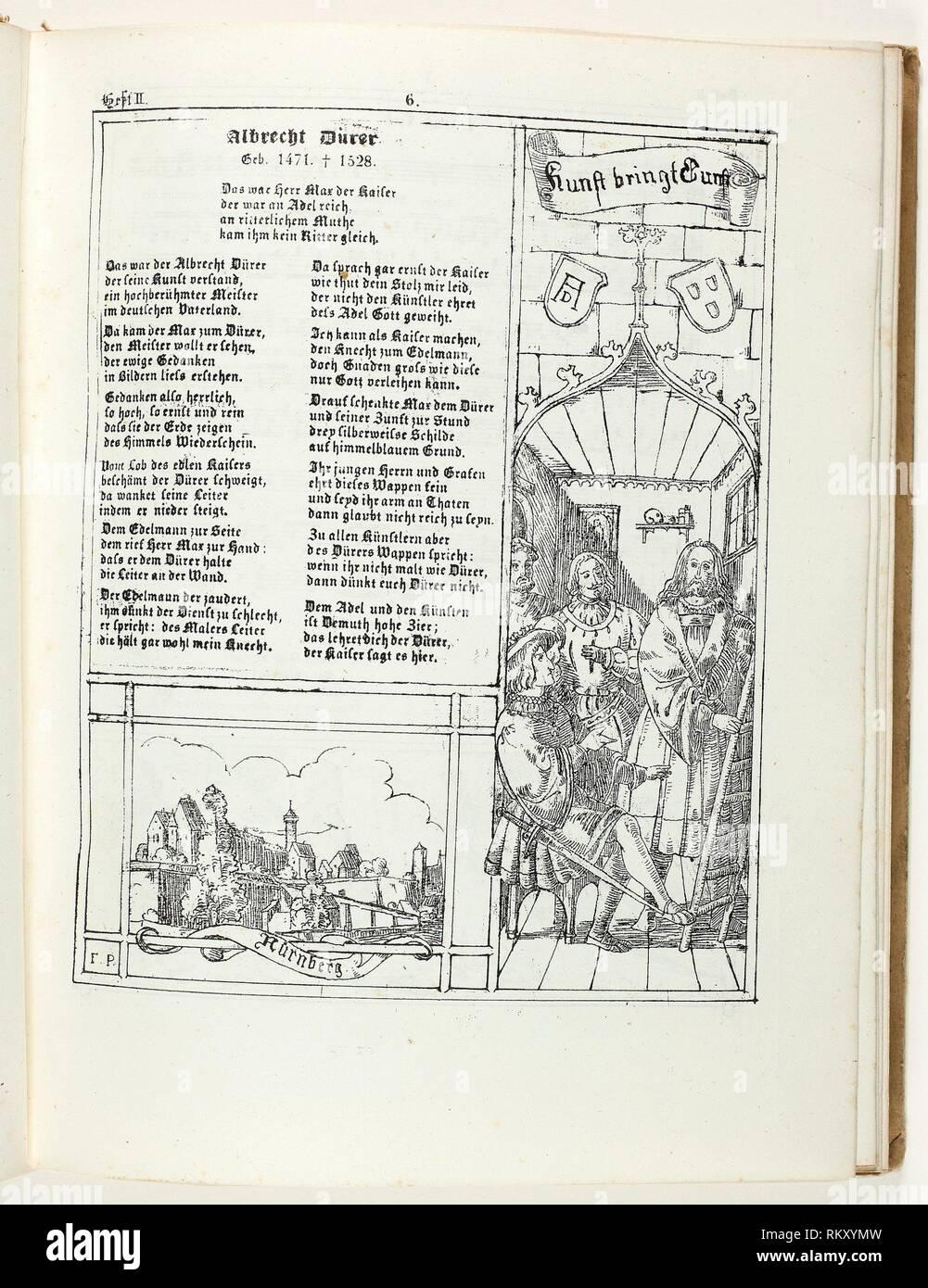 Feast Calendar in Pictures and Songs, Sacred and Secular (Fest-Kalender in Bildern und Liedern, Geistlich und Weltlich) - 1834–39 - Franz Graf von Stock Photo