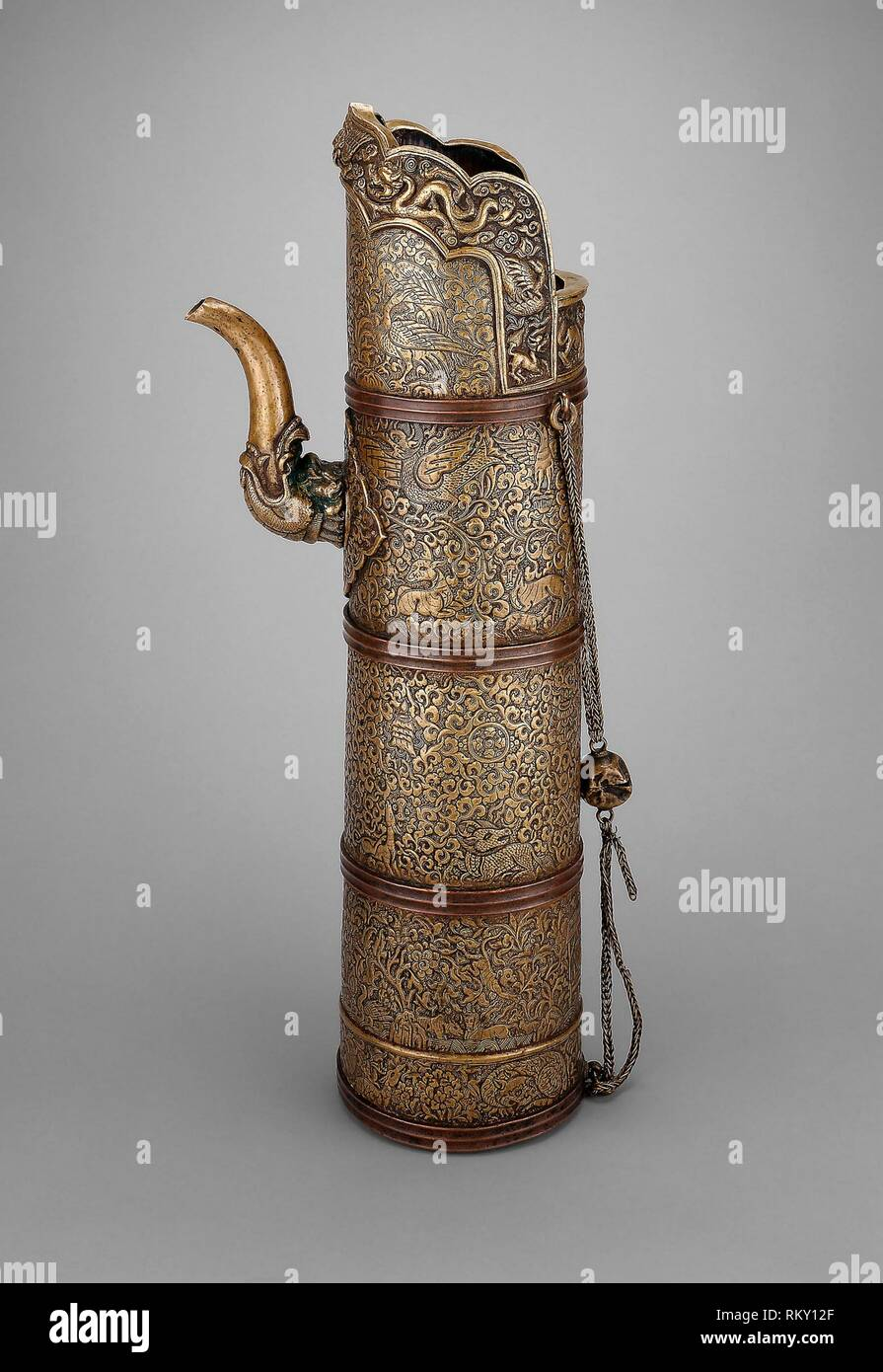 Asian Antiques Old Tibetan Ornate Copper Pitcher …beautifully Made With Lots Of Detail Good Heat Preservation Antiques