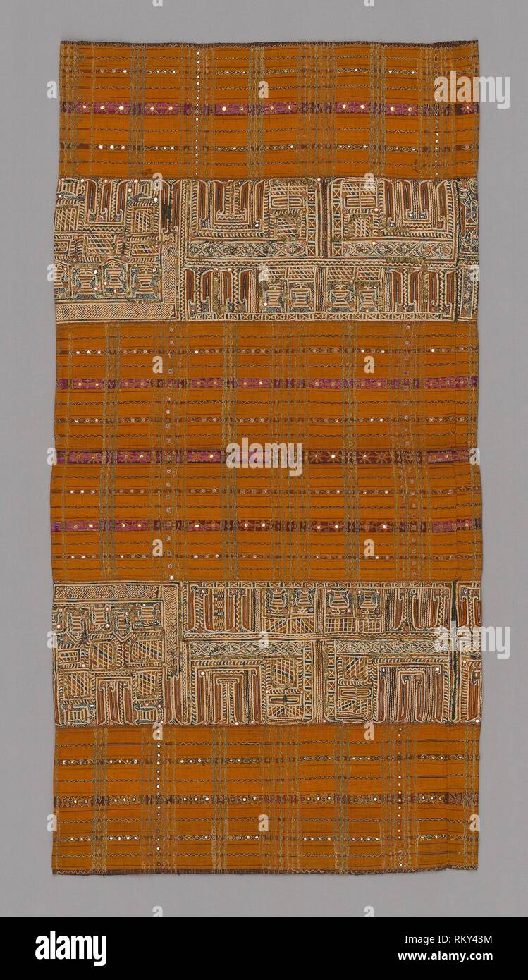 Woman's Ceremonial Skirt (tapis) - 19th century - Paminggir Indonesia, Sumatra, Lampung - Artist: Paminggir, Origin: Sumatra, Date: 1801–1900, - Stock Image